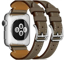 Load image into Gallery viewer, Double Buckle Genuine Leather Cuff Band For Apple Watch - Elegance & Splendour