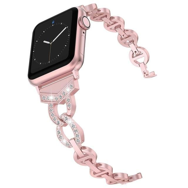 Premier Rose Legacy - Luxury Rhinestone Band For Apple Watch - Elegance & Splendour