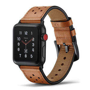 First Layer Genuine Leather Strap For Apple Watch - Elegance & Splendour