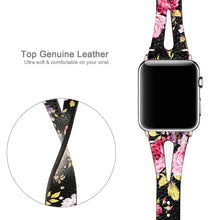 Load image into Gallery viewer, Elegant Genuine Leather Bands (With Breathable Holes) For Apple Watch - Elegance & Splendour