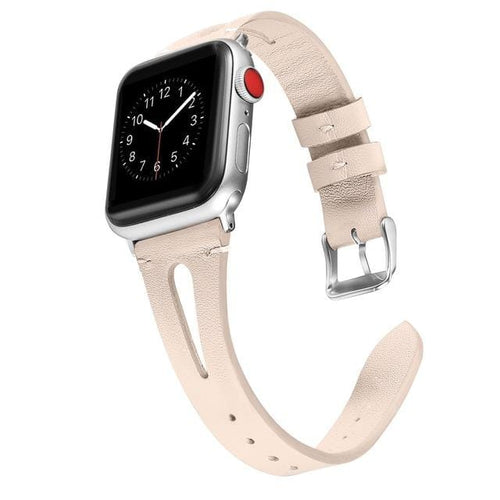 Elegant Genuine Leather Bands (With Breathable Holes) For Apple Watch - Elegance & Splendour