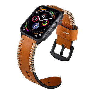Luxury Leather Strap For Apple Watch - Elegance & Splendour