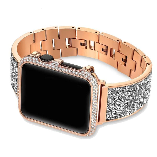 Designer Apple Watch Band - Esperanza Super Luxury Rhinestone Case + Strap - Elegance & Splendour