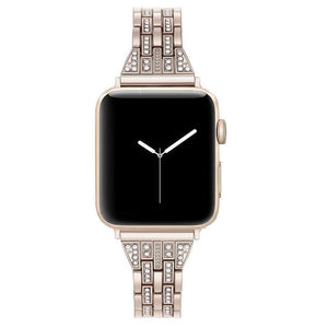 Rhinestone Band Compatible With Apple Watch - Elegance & Splendour