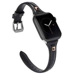 Leisure Series Slim Leather Band For Apple Watch - 1 2 3 4 5 - Elegance & Splendour