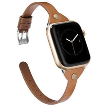 Load image into Gallery viewer, Leisure Series Slim Leather Band For Apple Watch - 1 2 3 4 5 - Elegance & Splendour