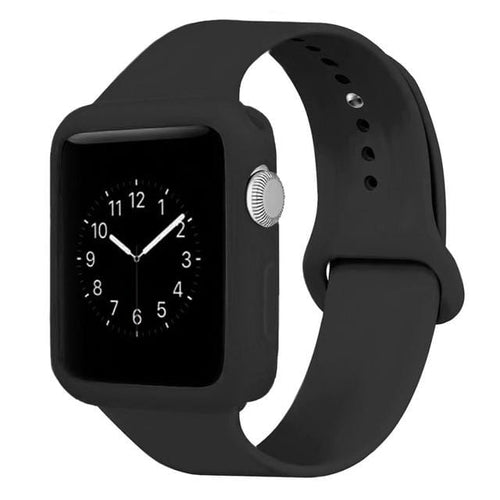 Bumper Case + Colorful Silicone Sport Straps For Apple Watch