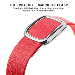 Modern Buckle Leather Loop Bracelet  Band For Apple Watch