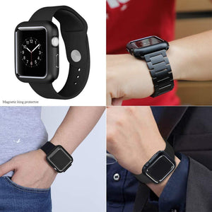 Magnetic Alloy Protective Bumper Cover For Apple Watch - Elegance & Splendour