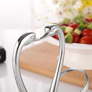 Alloy Swan Pair - Fork Tableware Set Stand Holder - Elegance & Splendour