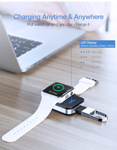 Keychain Wireless Charger For Apple Watch Series 2 3 4 5 - Elegance & Splendour