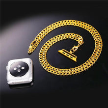 Load image into Gallery viewer, High Quality Gold Color Link Chain Necklace For Apple Watch