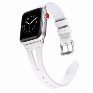 Slim Fit Leather Loop Band For Apple Watch - Elegance & Splendour