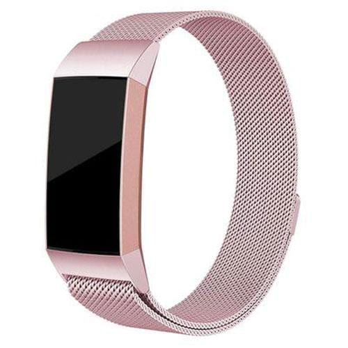 Stainless Steel Magnetic Milanese Loop Band For Fitbit Charge 2 & Charge 3