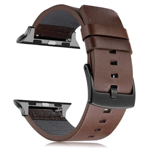 Quick Release Pin Loop Leather Band For Apple Watch - Elegance & Splendour