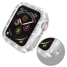 Load image into Gallery viewer, Double Rows Diamond PC Screen Protector Cover For Apple Watch 38mm 42mm 40mm 44mm  / Series 4 3 2 1