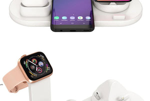 3 in 1 Wireless Induction Charger Stand for iPhone Air Pods & Apple Watch - Elegance & Splendour