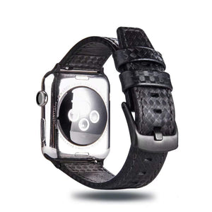 Elite Classic Leather Band Compatible With Apple Watch - Elegance & Splendour