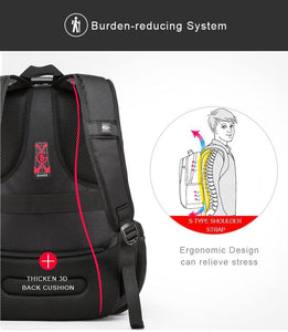 High Quality 40 L Large Capacity Anti Theft Backpack With USB Charging - Elegance & Splendour