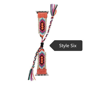 Bohemian Handmade Weave Nylon Watch Strap Band For Apple - Elegance & Splendour