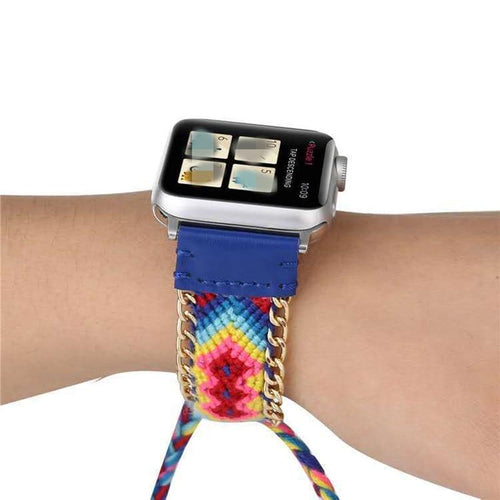 Bohemian Handmade Weave Nylon Watch Strap Band For Apple