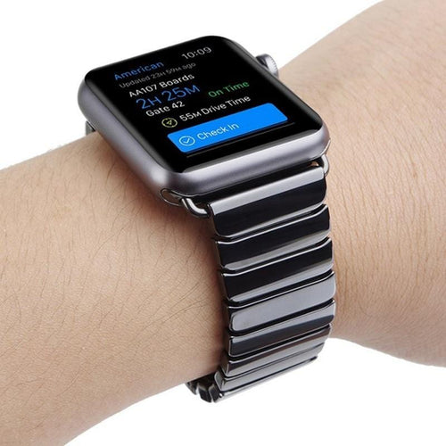 Luxury Ceramic Band for Apple Watch With Stainless Steel Buckle