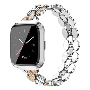 Luxury Stainless Steel Replacement Metal Wristbands For Fitbit Versa & Versa Lite