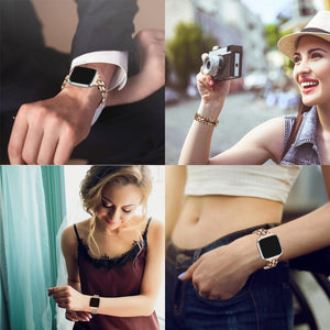 Luxury Stainless Steel Replacement Metal Wristbands For Fitbit Versa & Versa Lite - Elegance & Splendour