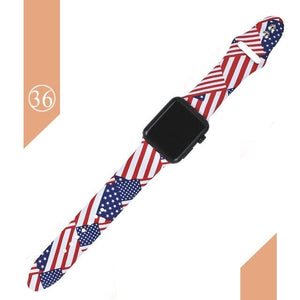 Floral Silicone Printed  Bands For Apple watch Series 5 4 3 2 1