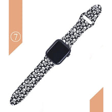 Load image into Gallery viewer, Floral Silicone Printed  Bands For Apple watch Series SE 6 5 4 3 2 1 - Elegance & Splendour