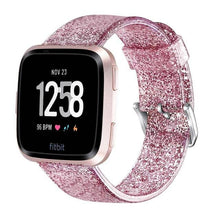 Load image into Gallery viewer, Glitter Soft Replacement Watchband For Fitbit Versa Lite/Versa - Elegance & Splendour