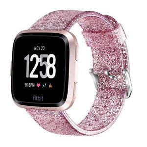 Glitter Soft Replacement Watchband For Fitbit Versa Lite/Versa - Elegance & Splendour
