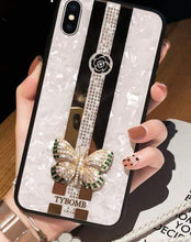 Load image into Gallery viewer, Luxury Creative Mirror 3D Inlaid butterfly Phone Case For iPhone - Elegance & Splendour