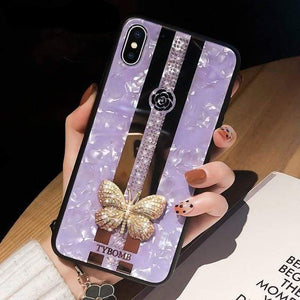 Luxury Creative Mirror 3D Inlaid butterfly Phone Case For iPhone - Elegance & Splendour