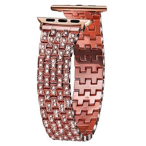 Ultra Luxury Full Diamond Metal Bracelet Strap For Apple Watch - Elegance & Splendour