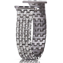 Load image into Gallery viewer, Ultra Luxury Full Diamond Metal Bracelet Strap For Apple Watch - Elegance & Splendour