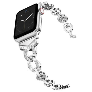 Ultra Luxury Diamond Stainless Steel Metal Band Compatible With Apple Watch - Elegance & Splendour