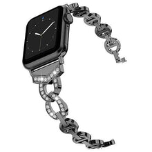 Load image into Gallery viewer, Ultra Luxury Diamond Stainless Steel Metal Band For Apple Watch Series 5 4 3 2 1 - Elegance & Splendour