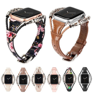 Slim Weave Double Ring Retro Leather Band For Apple Watch - Elegance & Splendour