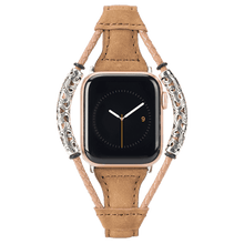 Load image into Gallery viewer, Slim Weave Double Ring Retro Leather Band For Apple Watch - Elegance & Splendour