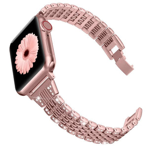 Metal Shiny Jewelry Replacement Bling Band for Apple Watch 38mm 40mm 42mm 44mm  Series 5/4/3/2/1 - Elegance & Splendour