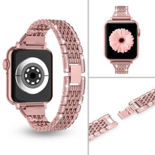 Load image into Gallery viewer, Metal Shiny Jewelry Replacement Bling Band for Apple Watch 38mm 40mm 42mm 44mm  Series 5/4/3/2/1 - Elegance & Splendour