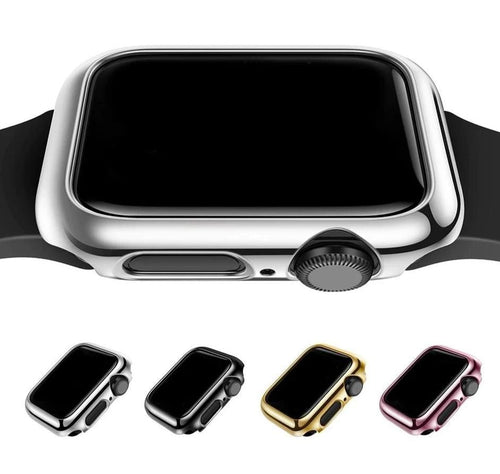 Shiny Plastic Bumper Hard Electroplated Case For Apple Watch - Elegance & Splendour