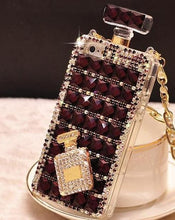 Load image into Gallery viewer, Luxury Diamond Mobile Case For iPhone With Lanyard Chain - Elegance & Splendour