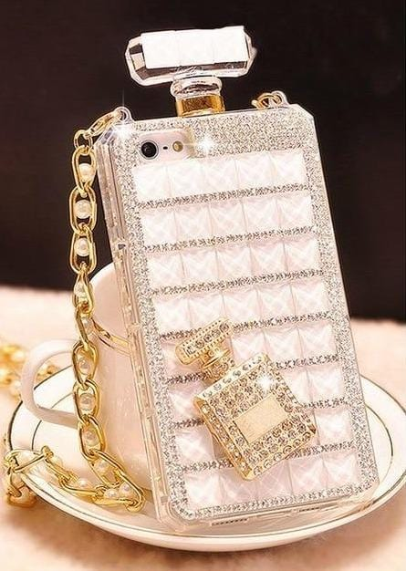 Luxury Diamond Mobile Case For iPhone With Lanyard Chain - Elegance & Splendour