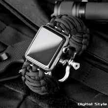 Load image into Gallery viewer, Survival Rope Metal Bolt Clasp Watchband - Woven Nylon Strap With Parachute Cord Clasp - Elegance & Splendour