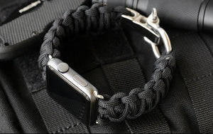 Survival Rope Metal Bolt Clasp Watchband - Woven Nylon Strap With Parachute Cord Clasp - Elegance & Splendour