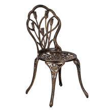 Load image into Gallery viewer, European Style Cast Aluminum 3-Piece Garden Table & Chairs Set - Elegance & Splendour