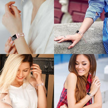 Load image into Gallery viewer, Luxury Crystal Stainless Steel Bracelet Smart Band For Fitbit Charge 3 - Elegance & Splendour
