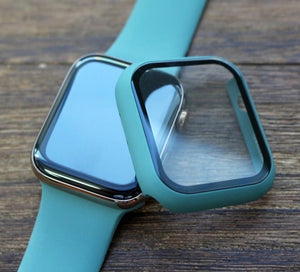 Plastic Bumper Hard Frame Case With Glass Film For Apple Watch Series 5 4 3 2 - Elegance & Splendour